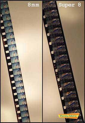 formats films 8 mm et super 8